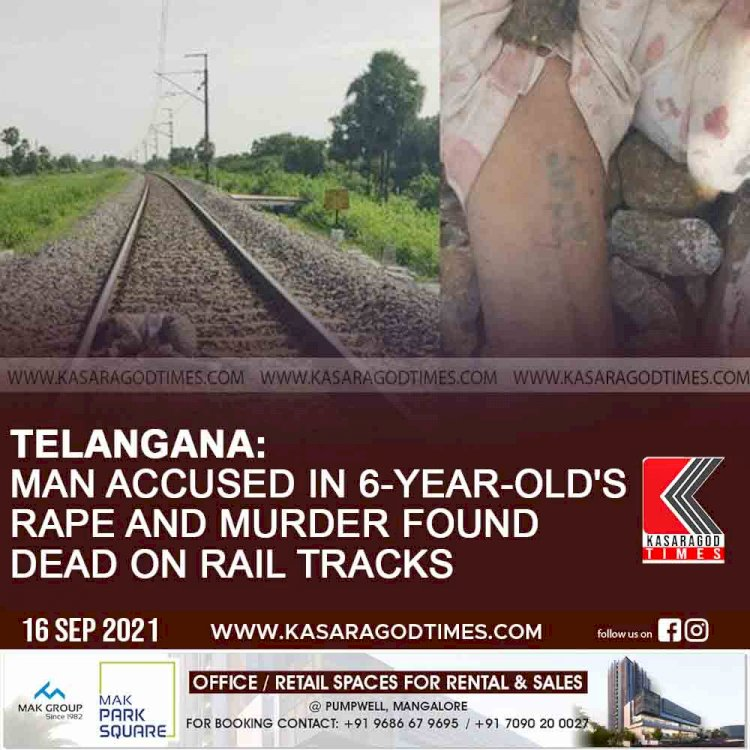 Telangana: Man accused in 6-year-old's rape and murder found dead on rail tracks